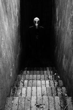 The stranger by Gates on 500px  #gasmask #dark #bw