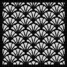 Shell mosaic crochet afghan pattern graph - Wedding World Crochet Afghans, Motifs Afghans, Crochet Motifs, Crochet Stitches Patterns, Tapestry Crochet, Filet Crochet, Afghan Crochet Patterns, Crochet Chart, Stitch Patterns