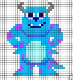 Pixel Art Templates, Perler Bead Templates, Pearler Bead Patterns, Disney Cross Stitch Patterns, Cross Stitch Designs, Pixel Pattern, Pattern Art, Cross Stitching, Cross Stitch Embroidery