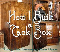 Diary of the Overanxious Horse Owner: The Tack Box That IS! Tack Locker, Diy Locker, Tack Box, Tack Trunk, Horse Supplies, Saddle Rack, Horse Tips, Horse Barns, Show Horses