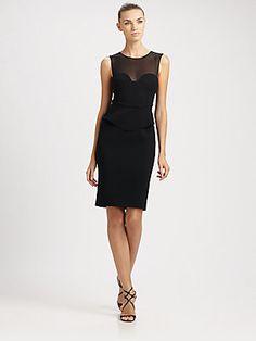 So Sexy. At Saks.  Emilio Pucci Sweetheart Peplum-Waist Dress