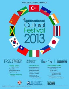 2013 - Multinational Cultural Festival of NY, general flyer