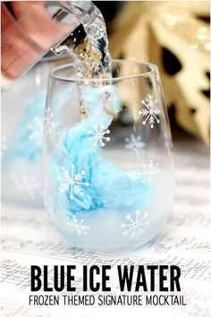 Frozen Party Drink Ideas - Blue Ice Water Frozen Themed Signature Mocktail