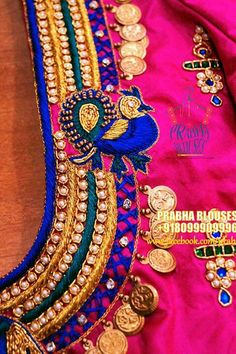 Hand Work Design, Hand Work Blouse Design, Kids Blouse Designs, Bridal Blouse Designs, Pattu Saree Blouse Designs, Maggam Work Designs, Back Neck Designs, Blouse Models, Indian Designer Wear
