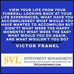 Have the foresight to make the best decisions now so that you are proud of those decisions later in your life. * * * #RothIRA #KeoghIRA #simpleIRA #definedbenefit #profitsharingplan #pension #ETFs #Portfoliomanagement #foresight #victorfrankl