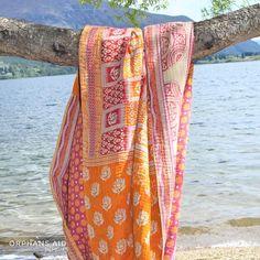 Recycled Sari Throw - Mukti Hope. Orphans Aid Online shop - NZ