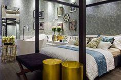 """O Quarto do sonhos O espaço da decoradora Walkiria Nossol, na Casa Cor Paraná 2015, foi especialmente projetado para mulheres interessadas em moda, tecnologia, e arte e que, acima de tudo, sempre procuram por mais espaço em seus closets. """"A ideia foi criar um ambiente aconchegante, com aspecto clássico e contemporâneo, além de extremamente agradável"""", revela.  #casacorparaná2015 #ambientes #design #arquitetura #decoraçao"""