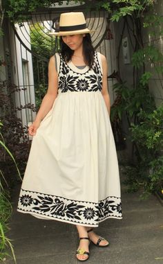 Embroidery Fashion, Embroidery Dress, Mexican Dresses, Indian Dresses, Casual Dresses, Fashion Dresses, Kids Dress Wear, Kids Frocks Design, Indian Bridal Fashion