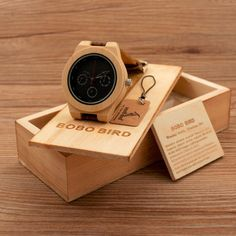 BOBO BIRD Brand Wooden Men watches Quartz Analog Watch Genuine Leather Strap Bamboo Watch with Wood Gift Box H28
