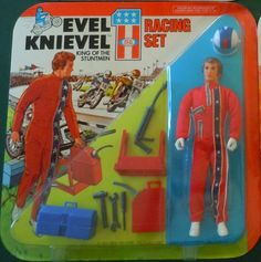 IDEAL: 1975 Evel Knievel Racing Set Action Figure #Vintage #Toys