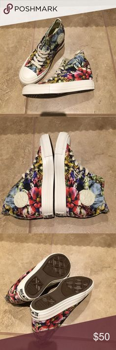 Brand New Converse Wedge Sneakers BRAND NEW FLORAL WEDGE CONVERSE SNEAKERS ... MY PRICE IS FIRM AND THANK YOU FOR VISITING MY CLOSET Converse Shoes Wedges