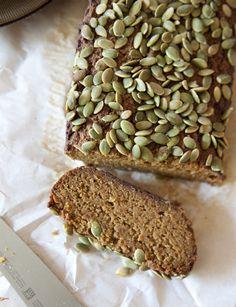 Grain free pumpkin bread recipe - http://fabyoubliss.com/2014/10/09/grain-free-pumpkin-bread/ 