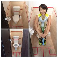 squash court toilet