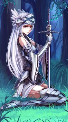 I like that she's a knight and not just a girl carrying around a random sword.