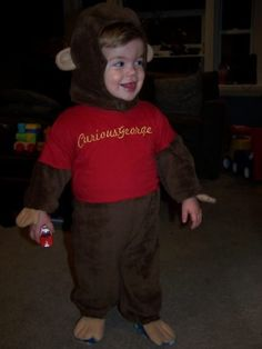 Curious George costume...I could just see Ethan in this! Too cute