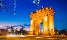 Arcul de Triumf by negreavdoru Make Way, George Washington Bridge, Bucharest, World War I, Romania, Troops, Skyscraper, City Buildings, Urban Design