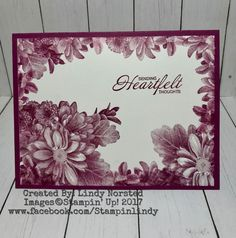 "Loving Stampin' Up! Sale-A-Bration stamp set ""Heartfelt Blooms"""