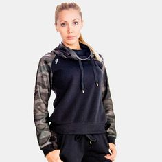 Tracksuit Jacket, Outerwear Women, Camo Print, Jackets Online, Cowl Neck, Hooded Jacket, Clothes For Women, Hoodies, How To Wear