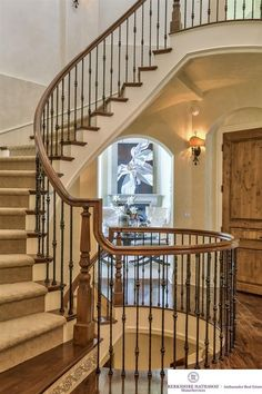 Traditional Staircase with Hardwood floors, Carpet, High ceiling