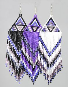 TCU Fringe earrings from hued designs.com