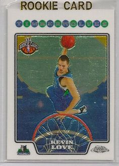 2008-09 Topps Chrome Kevin Love Rookie Basketball Trading Card. NOTE: Each card is scanned inside of a card holder. Any scratches or blemishes you may see are on the card holder and not on the card itself. All cards are mint unless noted otherwise.