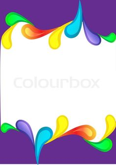 Stock vector of 'Illustration violet vertical background with colour drop'