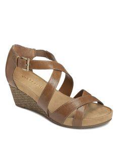 Take a look at this Dark Tan Enlighten Wedge by Aerosoles & A2 by Aerosoles  on