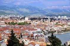 View of the City of Split from Marjan Hill, Split, Croatia. (One picture below)