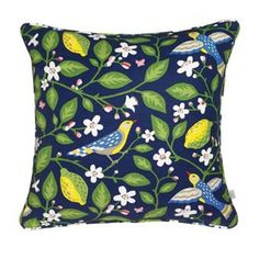 The pillow Amalfi comes in a beautiful blue and black design that makes a perfect interior detail in both bedroom and in the livingroom! The design is also available as fabric and a bag.