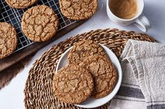 Spiced Rye Ginger Cookies | King Arthur Baking Four A Pizza, Good Pizza, Caribbean Rum Cake, Gluten Free Sandwiches, Ginger Cookies, Food Test, Salted Butter, Cookie Recipes, Keto Recipes