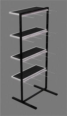 Metal accessories display rack with wood shelves design - super u shop fitting co. Shop Interior Design, Store Design, Wood Shelves, Display Shelves, Diy Rack, Industrial Bookshelf, Accessories Display, Shop Fittings, Shop Icon