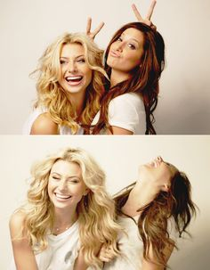 Aly Michalka & Ashley Tisdale Makes me think of Ashlyn & Summer <3 BFF