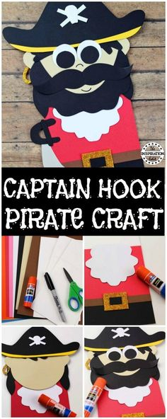 Captain Hook Paper Bag Pirate Puppet · The Inspiration Edit Looking for a perfect pirate craft to keep the kids occupied? Check out this Captain Hook Paper Bag Pirate Puppet. Pirate Preschool, Pirate Crafts, Pirate Art, Pirate Theme, Preschool Crafts, Preschool Kindergarten, Pirate Ships, Preschool Christmas, Christmas Crafts