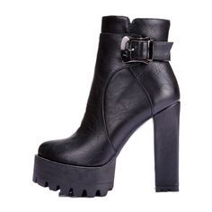 Women boots punk Buckle Round Toe High boots Square heel Ankle boots for women platform Martin boots BIG SIZE Platform Ankle Boots, Platform High Heels, High Heel Boots, High Heel Pumps, Heeled Boots, Super High Heels, Black High Heels, Chunky Heel Pumps, Leather Dress Shoes