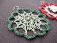 Crochet Earrings Patterns Free | JeweledElegance: New Crochet Pattern: Fire Flower Lace Earrings