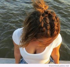 Summer braids for short brown hair
