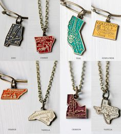 Custom State Charm Necklace | Jewelry Necklaces | Gleeful Peacock | Scoutmob Shoppe | Product Detail