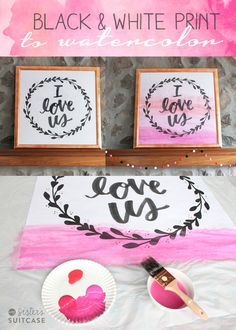 DIY Faux Watercolor