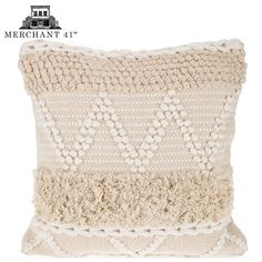 Natural & White Fringe Pillow Cover from Hobby Lobby White Pillows, Boho Pillows, Throw Pillows, Hobby Lobby Decor, Pillow Covers Online, Cheap Bedding Sets, Pillow Texture, Living Room Pillows, Affordable Home Decor