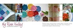 In love with the palate of the crocheted flowers.