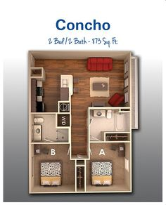 Small House Floor Plans With 2 Bedrooms H 225 Zak