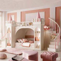 Decoracion Hogar - Comunidad - Google+ Dream Rooms, Dream Bedroom, Girls Bedroom, Castle Bedroom, Pretty Bedroom, Royal Bedroom, Baby Bedroom, Bedroom Sets, Fairytale Bedroom