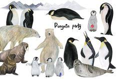 Penguin party by ramika on @creativemarket