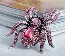 animal cocktail ring, crystal spider stretch ring, cubic zirconia spider ring, cz spider ring, oversize crystal s  pider ring, stretch ring