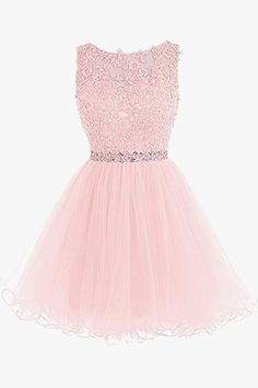 Apr 2020 - Pink A Line Cap Sleeve Beading Lace Crystal Appliques Sleeveless Tulle Mini Shot Homecoming Dress sold by floralprintdress on Storenvy Quinceanera Dresses Short, Lace Homecoming Dresses, Prom Dresses For Teens, Hoco Dresses, Pretty Dresses, Beautiful Dresses, Girls Dresses, 60s Dresses, Prom Gowns