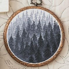 Cross Stitch Pattern Forest Nordic Cross Stitch Patterns