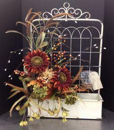 fall garden gate décor CK