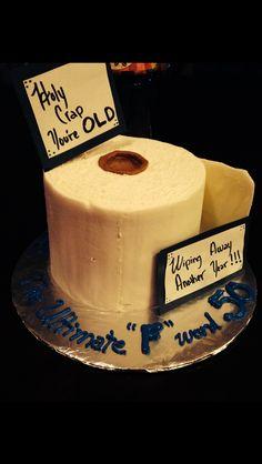 Toliet Paper Cake #50th Birthday #old birthday