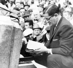 """Fall River's """"old"""" city hall was demolished on Dec. 6, 1962, to make way for Interstate 195 and, later, the new Government Center. This photo of a time capsule was taken on June 6, 1962, the day the old city hall was locked up and left for demolition."""