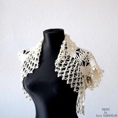 Bridal shrug bolero Lace Shrug For your White Gown Crochet by Ayca, $80.00